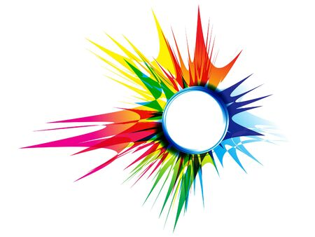 abstract artistic rainbow crunch explode vector illustration Ilustrace