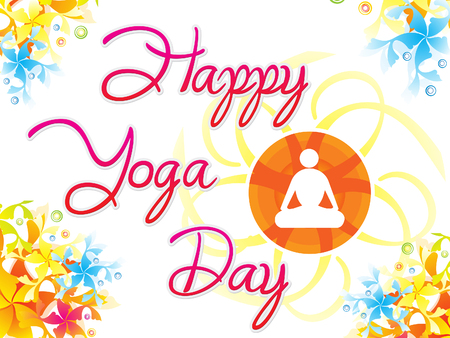 abstract artistic creative yoga day background vector illustration