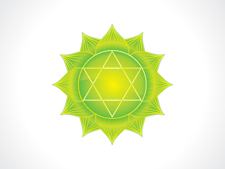 abstract artistic green heart chakra vector illustration