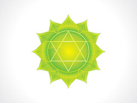 abstract artistic green heart chakra vector illustration