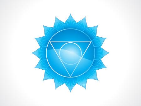abstract artistic blue throat chakra vector illustration  イラスト・ベクター素材