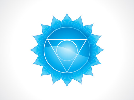 abstract artistic blue throat chakra vector illustration
