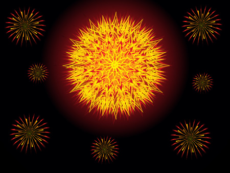abstract artistic creative cracker explode vector illustration