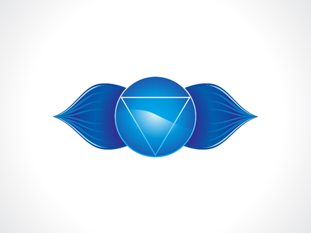 abstract artistic blue third eye chakra vector illustration