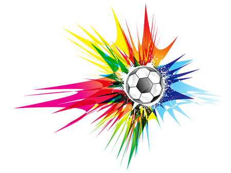 abstract colorful football explode vector illustration