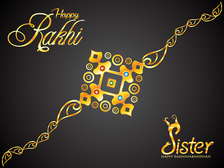 abstract artistic golden raksha bandhan rakhi vector illustration Illustration