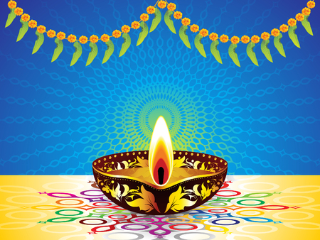 abstract artistic creative diwali background vector illustration