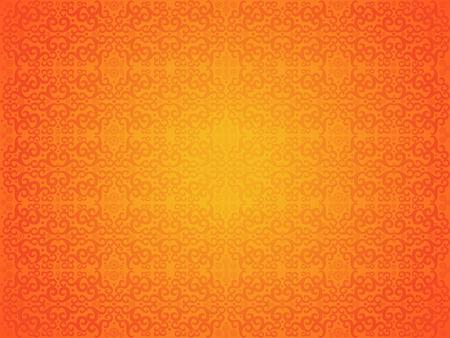 abstract artistic creative orange seamless pattern vector illustration Illustration