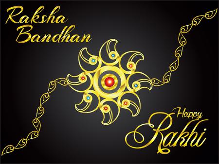 abstract artistic golden rakhi background vector illustration Illustration