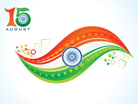 abstract artistic creative indian flag concept vector illustration Illustration