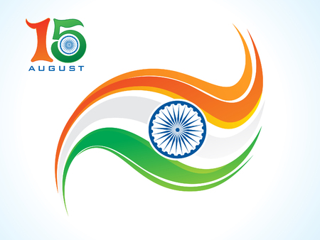 abstract artistic creative indian flag vector illustration
