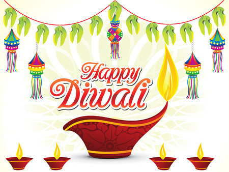 Abstract Happy Diwali template 일러스트
