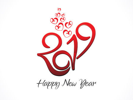 abstract artistic creative new year text vector illustration