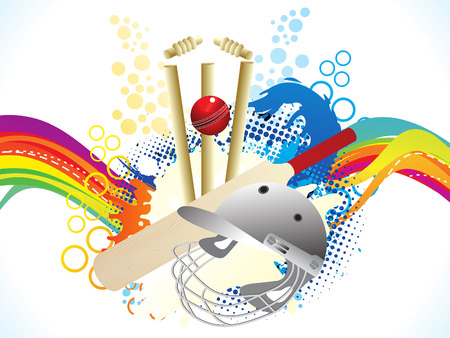 abstract artistic creative cricket explode vector illustration