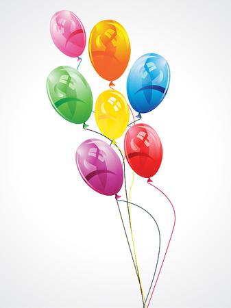 abstract artistic creative colorful balloon vector illustration Иллюстрация