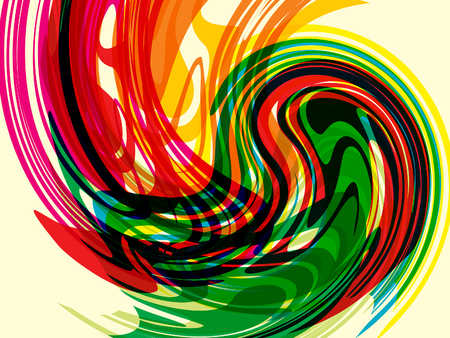 abstract artistic creative colorful wave vector illustration