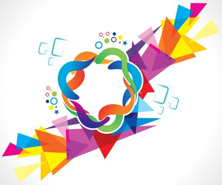 abstract artistic creative colorful background vector illustration