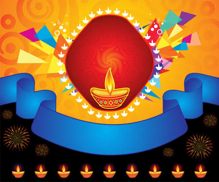 abstract artistic creative colorful diwali background vector illustration Ilustração