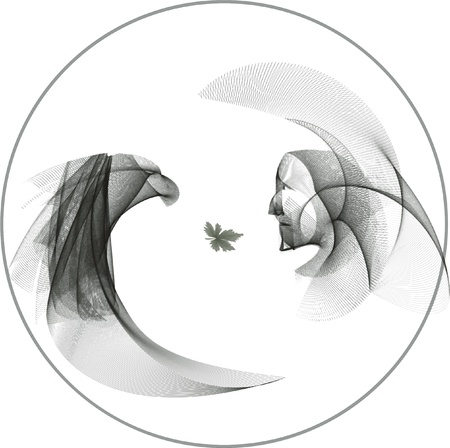 carlos: Indian Shaman and the Eagle, in the circle of life, are staring at each others eyes. Devoted to Carlos Castaneda and all the pagan shaman cultures of the world.  Illustration