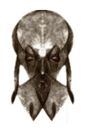 necromancer: The portrait of Saruman, evil magician, necromancer and warlock.