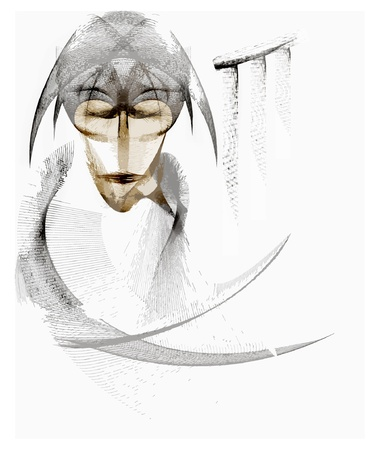 miracles: The Mysterious Monk from the world of magic and miracles. His second name is Sleeping Stranger. Illustration