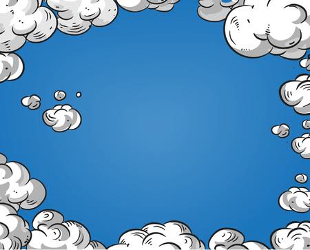 Cartoon lucht ruim