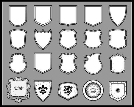 Heraldic shields Illustration