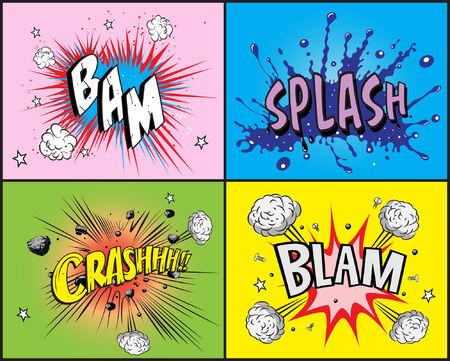 Comic boek explosie