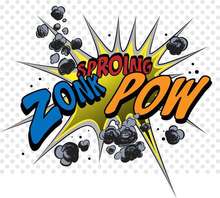 historietas: Explosión de cómic Vectores