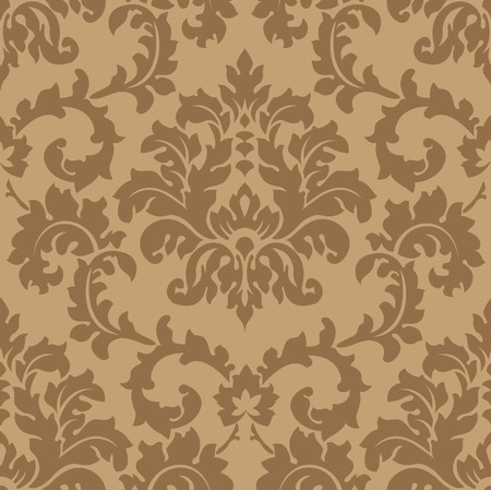 Seamless Damask wallpaper Stock Vector - 6119236