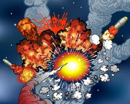 Explosión  Ilustración de vector