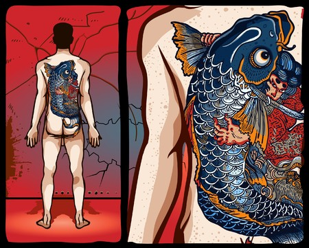 geisha: Japanese tattoo design Illustration