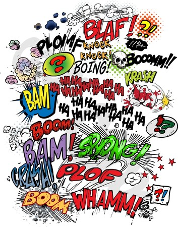boom: Comic book - words