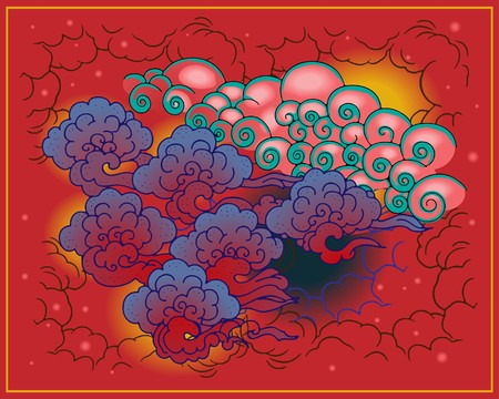 Chinese clouds Stock Vector - 8062108