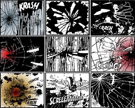 explosie: Vernietigen - achtergronden Stock Illustratie