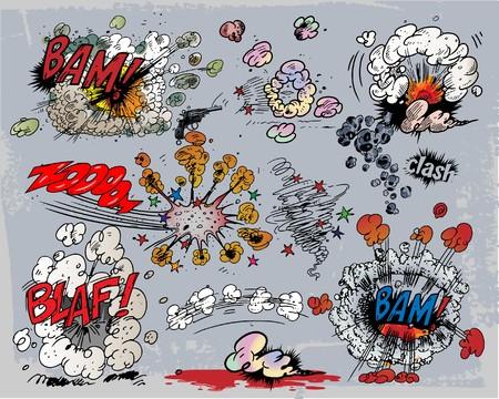 g�lle: Explosionen Illustration