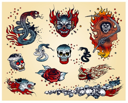 Tattoos Stock Vector - 10637141