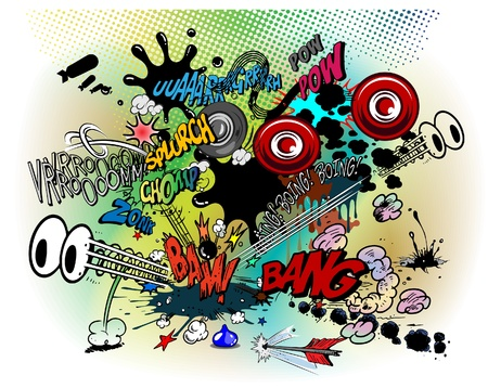 Comic book explosions Vektoros illusztráció