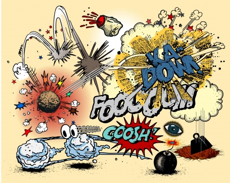 bombs: Comic book explosions