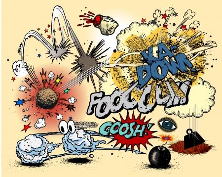 bombe: Explosions de bande dessin�e
