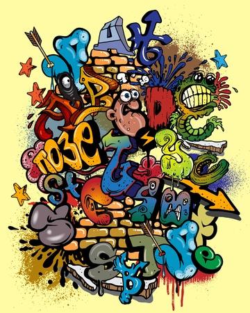 alfabeto graffiti: Alfabeto di graffiti.