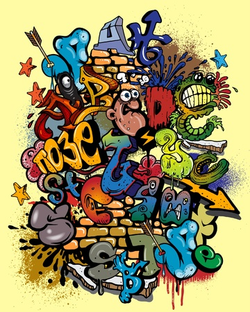 graffiti art: Graffiti alphabet.