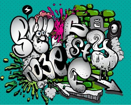 grafitis: Elementos de Graffiti. Vectores