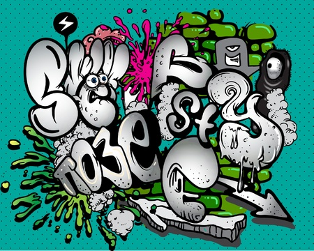 pop culture: Graffiti  elements.