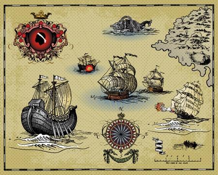 Antike Karte Vektorgrafik