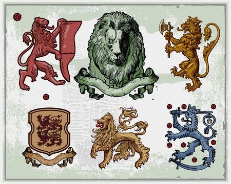 Heráldicos leones