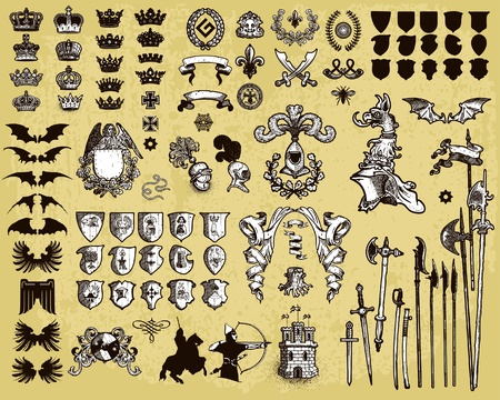 Heraldic elements Stock Vector - 10637165