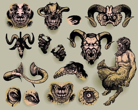 Mythological monsters Vector