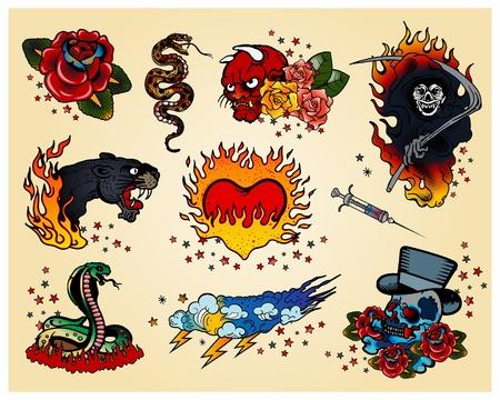 tatouage dragon: Tatouages Illustration