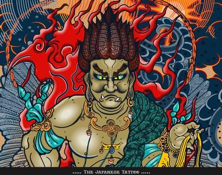 samourai: Conception de tatouage japonais